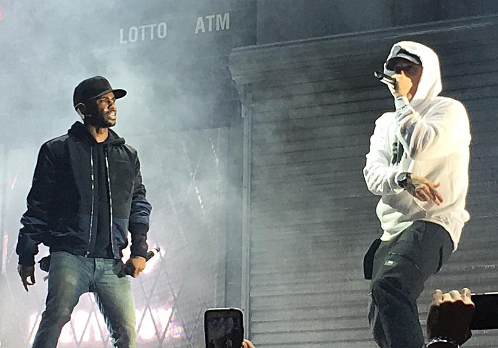 Eminem delivers a solid guest verse on the album as well.